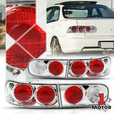 Chrome/Red *EURO ALTEZZA* Tail Light Rear Brake Lamp for 94-01 Acura Integra 4Dr