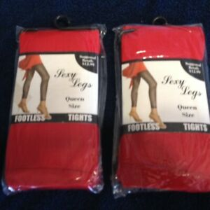 Eros Womens Sexy Legs Red Queen Size (Lot of 2)