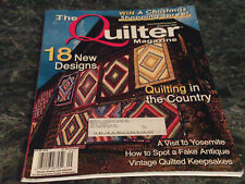 The Quilter Magazine September 2005 Plum Cottage