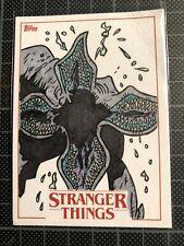 Topps Stranger Things Season 1 Sketch Card Ibrahim Özkan