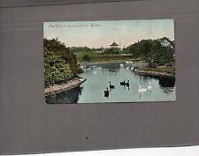 Lancashire Bolton Queens park  Edwardian colour tint card posted 1905  A060