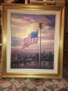 Thomas Kinkade The Light of Freedom S/N Edition #3 of 2950 Canvas 24x30 WillShip