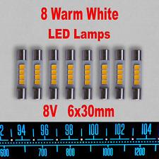 10 x Fuse Lamp 8V 150mA 1,2W 6x30mm Lampen Pilotlampen Lamps Skalenlampen