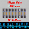 8x LED Lamp Vintage Pioneer Marantz Fuse Type Bulb Replacement AC8V Warm White