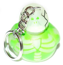 GLOW IN THE DARK SKELETON RUBBER DUCK KEY CHAIN (KC053-Green)