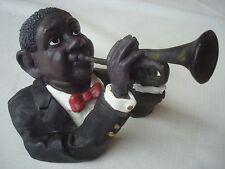 Singer Trumpet Louis Armstrong vintage Statue ceramic resin