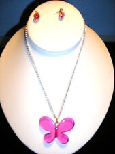 Pretty in Pink earring and necklace set