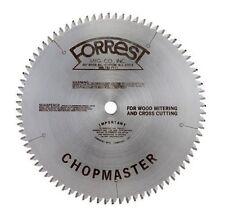 "FORREST CHOPMASTER SAW BLADES CM-12806115, 12"",  1"" bore, 80T, .115 kerf"