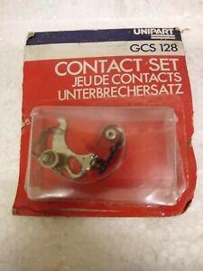 UNIPART CONTACT BREAKER SET PART No. GCS 128. NEW OLD STOCK. SUIT CLASSIC CARS.