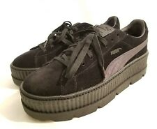 c5976d3da7 Puma Fenty Rihanna Cleated Platform Creeper Black Suede Sneaker Mens 12 46  New