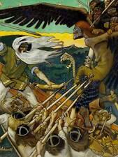 Akseli galo Kallela la defensa de Sampo Antiguo Arte Pintura Impresión 006OM