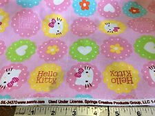 HELLO KITTY #CP49554-HEARTS & FLOWERS TOSSED BY SPRINGS-BY THE YARD