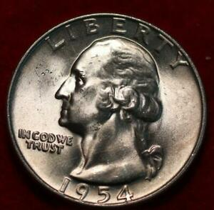 Uncirculated 1954-D Denver Mint Silver Washington Quarter