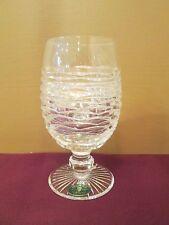 "HERITAGE IRISH CRYSTAL CRICKLEWOOD ICED TEA GLASS - 6 1/4"" X 2 3/4"" NEW 0113C"