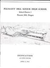 1962 Pleasant Hill High School Dedication and Open House Pleasant Hill, Oregon