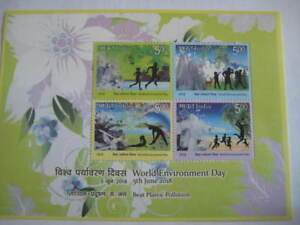 India 2018 Miniature Sheet on World Environment Day - Limited Edition MNH