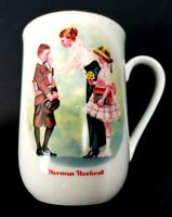 Norman Rockwell The First Day of School Coffee Mug Vintage 1986 Cup Gold Trim