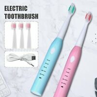 Adults Electric Toothbrush IPX7 Auto Acoustic Wave Rechargeable Oral Health