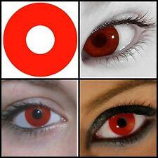 lentilles fantaisie rouge out  crazy lens 1 an pour halloween zombie