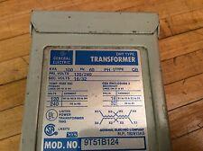 Ge 9T51B124 Transformer 1-Ph 0.10 Kva 120/240 16/32 V