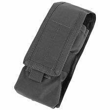 NEW CONDOR Black MA9 MOLLE PALS L or R Antenna Radio Walkie Talkie Pouch Holster