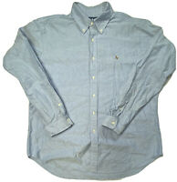 Ralph Lauren Blue Denim Look Classic Fit Button Down Long sleeve Men's XL