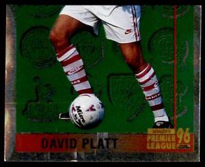 Merlin Premier League 96 - David Platt (Leading Player 2/2) Arsenal No. 322