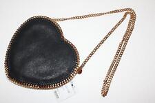 Stella McCartney Falabella Heart Cross-body Bag Black Gold Chain Strap 512064