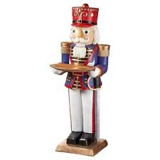 Royal Christmas Nutcracker Soldier Holiday Pedestal Tray Table