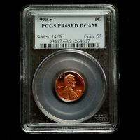 1990 S Lincoln Cent PR69RD Deep Cameo
