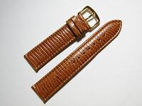Hadley Roma MS716 20mm Brown Calfskin Lizard Grain Men's Watch Strap
