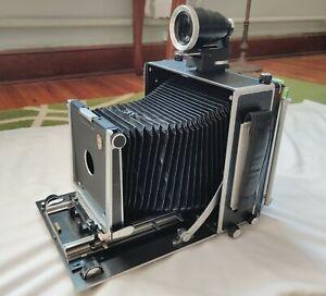 Linhof Super Technika V 5x7 13x18 Kit w/ Backs + Viewfinder + Accessories GOOD