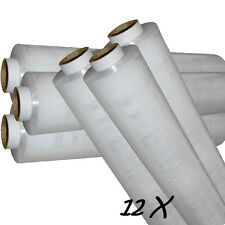 12 ROLL OF STRONG Cling Film STD CORE CLEAR PALLET STRETCH WRAP 400mmX 250m UK27