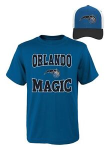 NBA Youth Boys Tee & Hat Set Orlando Magic Size Medium 10-12 New