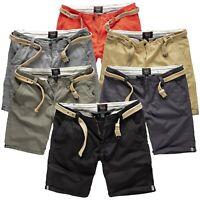 Surplus Raw Vintage Herren Chino Shorts kurze Hose Bermudas Stoff Hose m. Gürtel