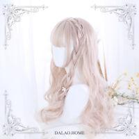 Harajuku Japanese Daily Gothic Lolita Mixed Princess Curly Hair Gradient Wig new