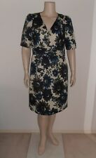 GRACE HILL Sz 18 16 beige multi floral silky 100% polyester short sleeve Dress