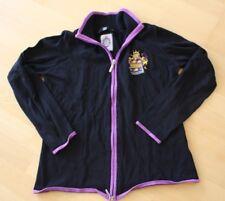 JETTE JOOP Strickjacke schwarz lila mit Wappen 42 Zipper Kaschmir