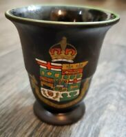 Royal Tour Canada Commemorative Wedgwood Black Basalt Hand Enameled Cup