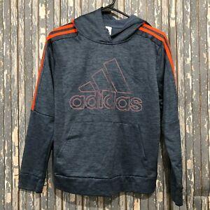Adidas Youth Hoodie Gray/Orange Sweatshirt Size Large 14/16