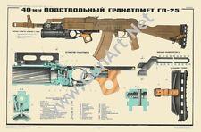 Color POSTER GP25 Grenade Launcher AKM AK47 AK74 Kalashnikov Manual SEE BUY NOW!