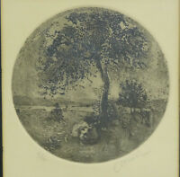 RARE FRAMED THOMAS CORNELL (1937-2012) SIGNED ETCHING 2/100