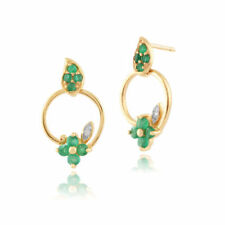 Emerald Drop/Dangle Natural Fine Earrings