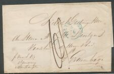 SUR., BLAUW RONDST. PARAMARIBO 4/6 OP BRIEF - 'S GRAVENHAGE 1865, AS. PROEF U594