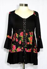 Dare to Wear CABARET Empire Waist Corset Top ROSE NOIR XL, 1X, 12-14