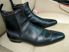 Louis Vuitton Mens Boot Ankle Boots Black Leather Perforated Logo Shoes US 8