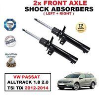 2x FRONT SHOCK ABSORBERS for VW PASSAT ALLTRACK (365) 1.8 2.0 TSi TDi 2012-2014