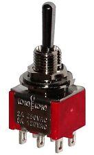 Interrupteur commutateur à levier DP3T (ON)-OFF-(ON) 2A/250V 1 position