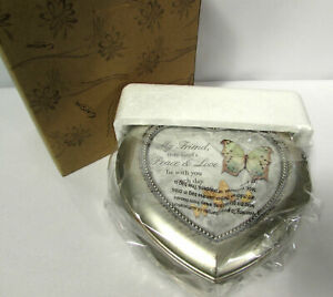 Carson Home Accents My Friend Heart Shaped Music Box / Amazing Grace