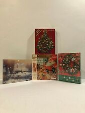 Lot Of Springbok Christmas Puzzles *VINTAGE* *NEW IN BOX*